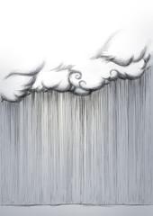 Starkregen aus Wolke