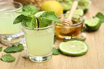 kaffir lime and lemon