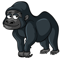 Gorilla with sad smile