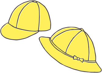 小学生の黄色い通学帽子
