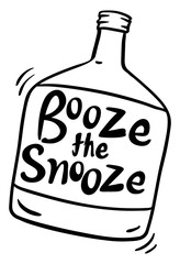 Word expression for booze the snooze in bottle