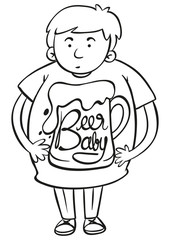 Word expression for beer baby