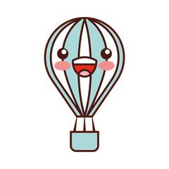balloon air hot kawaii character vector illustration design