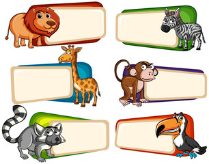 Banner design with wild animals
