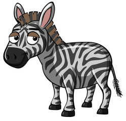 Zebra with sad smile