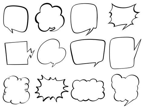 Doodle design for bubble speech