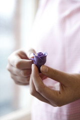Sugar paste flower