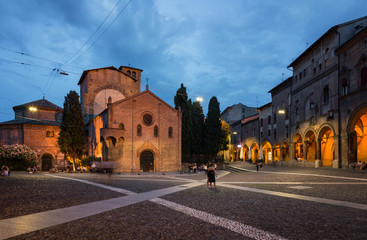 Historical downtown of Bologna