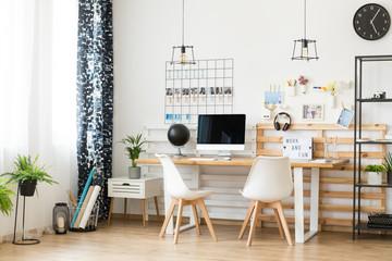 Modern office for freelancer