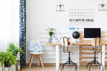 Double desk in study