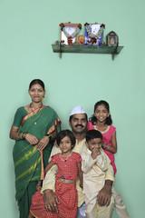 Portrait of a Maharashtrian family