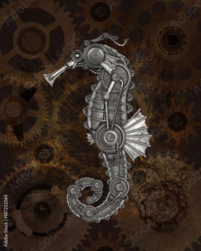 steampunk style seahorse stockfotos und lizenzfreie. Black Bedroom Furniture Sets. Home Design Ideas