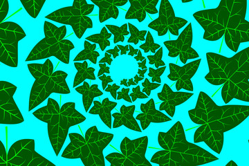 Ivy leaf - vector green pattern