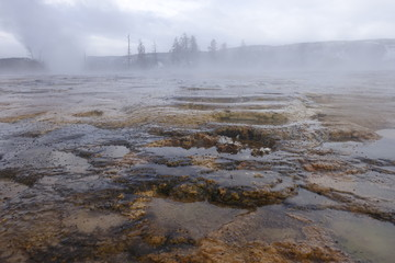 Yellowstone National Park - Hot Water Basins