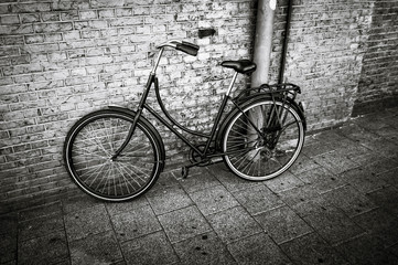 Photo sur Aluminium black and white bicycle