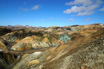 Island, Vulkanlandschaft bei Landmannalaugar mit Farben von Rhyolit