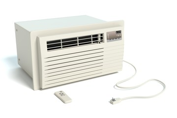 3d illustration of a window air conditioner