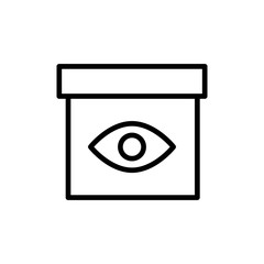 Premium box icon or logo in line style.