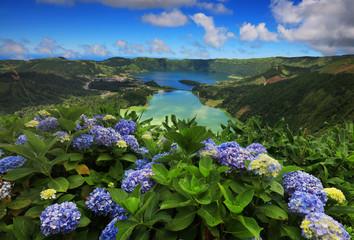 Wall Mural - Sete Cidades landscape, Sao Miguel Island, Azores, Europe