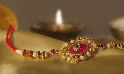 Close-up of Rakhi