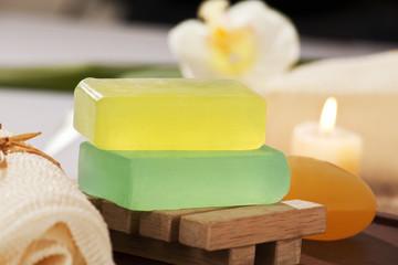 Bars of glycerine soap