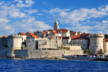 Photo sur Aluminium Fortification Korcula Korčula houses fort