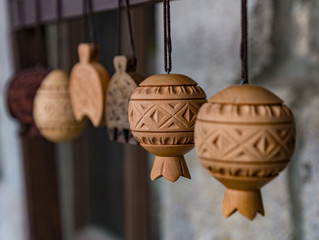 Carved wood decorations