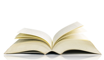 Open book isolated on white background,clipping paht