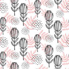 Printed kitchen splashbacks Watercolor Nature Flowersfloral seamless vector pattern