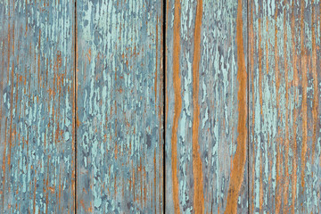 Old blue wooden table with grunge, abstract texture background.