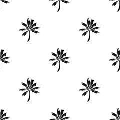 Palm tree icon in black style isolated on white background. Surfing symbol stock vector illustration.