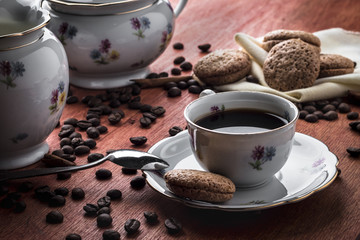 Coffee and biscuits for a pleasent meal