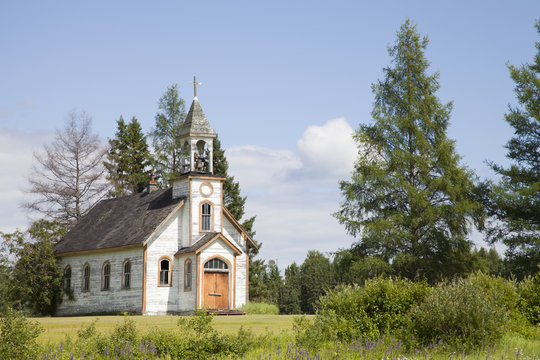 Old abandoned church in northern Ontario, Canada.