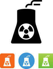Nuclear Power Plant Icon - Illustration