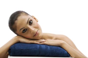 Woman at a spa
