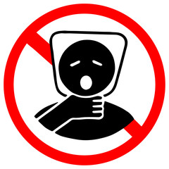 plastic bag may cause kill your baby. Do not give to your baby as toy. Red prohibition warning symbol sign