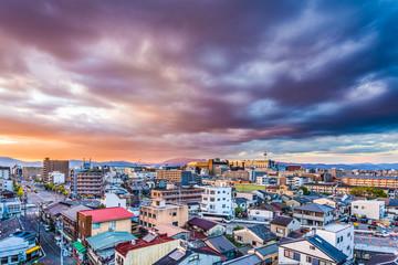 Kyoto, Japan Skyline over residential areas.