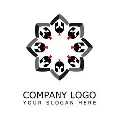 spartan flower logo