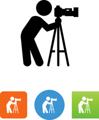 Photographer Icon - Illustration