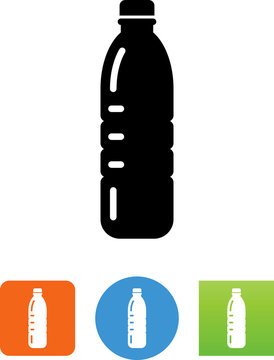 Plastic Water Bottle Icon - Illustration