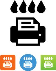 Printer Toner Icon - Illustration