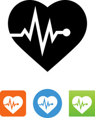 Pulse Rate Icon - Illustration