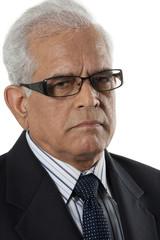 Portrait of an old businessman