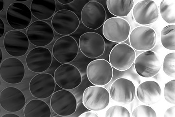 Abstract composition with cocktail straws