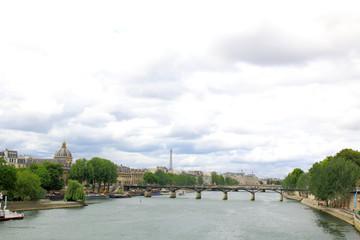 View of Paris along the seine river.