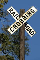 Vintage Rural Railroad Crossing Sign