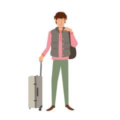 旅行する 男性のイラスト