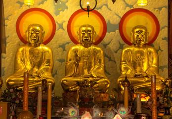 Chinese Buddha of a Chinese temple