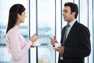 Businessman and executive having a conversation
