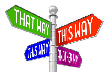 This way concept - colorful signpost